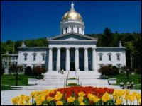 The Vermont State House in the summer